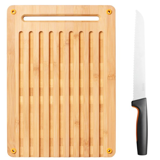 Functional Form bambusest leivalõikelaua ja noa komplekt